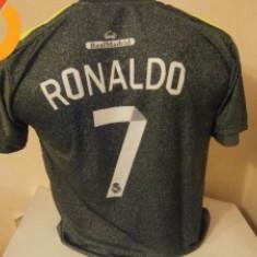 Tricou echipa fotbal, De club, Real Madrid, Maneca scurta - TRICOU RONALDO REAL MADRID DEPLASARE 2015-2016 MARIMI L SI M