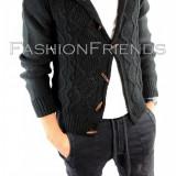 Pulover tip ZARA negru - pulover barbati - pulover  slim fit - cod 5684
