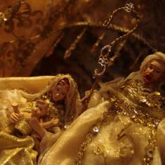 IESLE/Scena Nasterii = HOLY NATIVITY Set = Xmas deco de LUXE - scene.1! - Icoana cu foita de aur