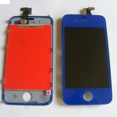 Display LCD+Touchscreen Apple iPhone 4 Albastru Inchis Orig Chin
