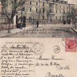 Constanta- Hotel Carol-rara - Carte Postala Dobrogea 1904-1918, Circulata, Printata