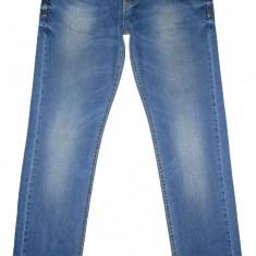 Blugi ZARA Slim Fit - (MARIME: 32) - Talie = 88 CM / Lungime = 114 CM - Blugi barbati Zara, Culoare: Albastru, Prespalat, Normal