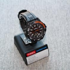 Ceas barbatesc Timex, Sport, Quartz, Plastic, Data, Analog - Ceas TIMEX Expedition Indiglo 100% Original (Ceas Sport / Cadran iluminat / NOU)