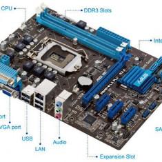 Placa de Baza PC Asus, Pentru INTEL, Socket: 1155, DDR 3, Contine procesor, MicroATX - Kit i3-2120 placa Asus P8H61-M LX PLUS R2.0, socket 1155, ram 4GB DDR3