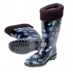 Cizme dama - Cizme de cauciuc pentru ploaie cu captusala Stocker marimea 40 albastru
