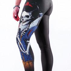 CL486 Colanti sport cu imprimeu 3D Evil Skull Queen - Colanti dama, Marime: S/M