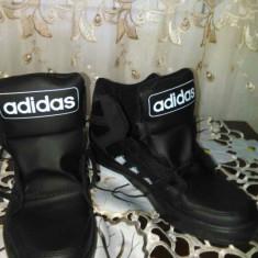 Adidasi barbati, Negru - Bascheti adidas din piele originala