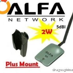 Adaptor wireless - Alfa AWUS036NH AWUS 036NH WirelessUSB Network Adapter 2W antena 5Dbi