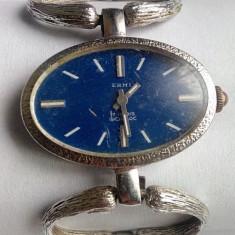 Ceas dama, Diametru carcasa: 32, Mecanic-Manual, Elegant, Analog, 1970 - 1999 - Elegant ceas de dama Erni mecanic 17 Rubis Incabloc