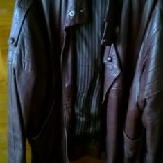 Geaca piele scurta maro inchis - Geaca barbati American Eagle, Marime: M, Culoare: Coniac