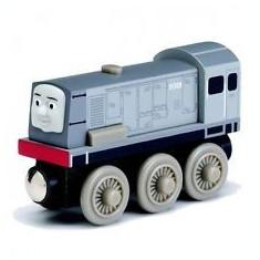 Locomotiva Dennis, colectia Thomas si prietenii sai, Fisher Price - Trenulet de jucarie Fisher Price, 4-6 ani, Lemn, Baiat