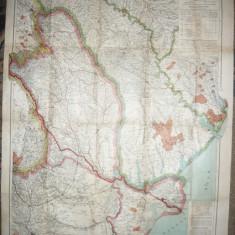 Harta Militara mare Basarabia, Moldova, Dobrogea 1917