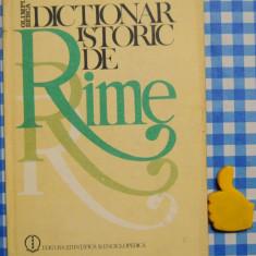Carte hobby - Dictionar istoric de rime Olimpia Berca