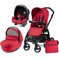 Carucior 3 in 1 Book Plus Black Sportivo SL Red - Carucior copii 2 in 1 Peg Perego