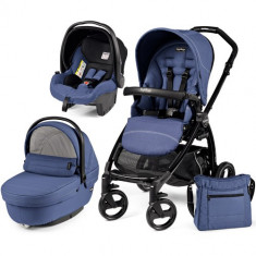 Carucior 3 in 1 Book Plus Black Sportivo SL Bluette - Carucior copii 2 in 1 Peg Perego