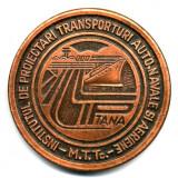 MEDALIE INSTITUL DE PROIECTARI TRANSPORTURI AUTO NAVALE SI AERIENE MTTC 30 ANI 1953-1983 MARINA AVIATIE POSTA INSTITUTII - Medalii Romania