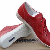Pantofi dama ROMIKA - Tenisi dama, Marime: 37, Culoare: Rosu, Piele naturala