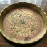 Farfuriuta veche decorativa din alama - Super Pret - Metal/Fonta, Ornamentale