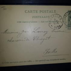 Carte postala circulata 1894 Belgia Bruxelles