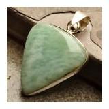 PANDANT ARGINT 925 CU AMAZONIT NATURAL (INDIA) - Pandantiv argint