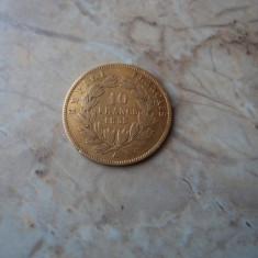 10 franci / francs 1855 Napoleon, aur, Europa, An: 1855