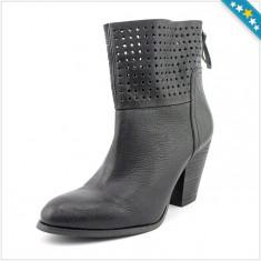 100% AUTENTIC - Cizme NINE WEST - Pantofi Dama, Femei - Cizme Piele Naturala - Primavara, Vara - Ghete Perforate - Ghete Originale NINE WEST - Cizme dama Tommy Hilfiger