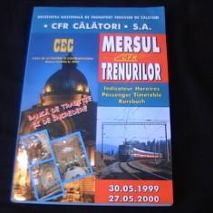 MERSUL TRENURILOR DE CALATORI-1999/2000- - Carti Transporturi