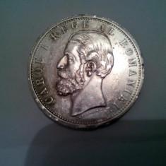 Monede Romania - Moneda 5 lei 1901 Carol 1