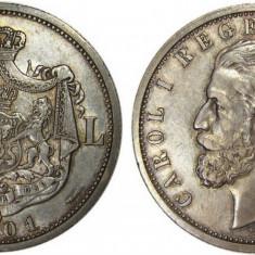 Monede Romania, An: 1901 - 5 LEI 1901 Piesa de colectie