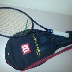 Racheta de tenis de câmp - Vacuum Eliptic Pro Fischer + Husă cu buzunar Wilson - Racheta tenis de camp Wilson, Performanta, Adulti, Grafit