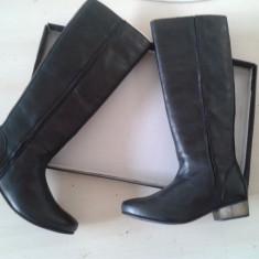 Cizme iarna de dama - nepurtate - piele 100% - colectie 2013 - Cizme dama Asos, Marime: 37, Culoare: Negru, Piele naturala