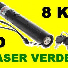 Laser pointer - Laser Verde 3D 10.000 Mw (green Laser) Acumulator Raza 8KM seria 303