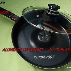 TIGAIA Dry Cooker=ALUMINIU TEFLONAT (NU TABLA) Tigaie Magica DRY COOKER GEMEI