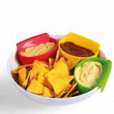 Set 3 recipiente pentru sosuri in farfurie
