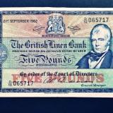 Scotia 5 Pounds The British Linen Bank 1962 P#167a, Europa, An: 1962