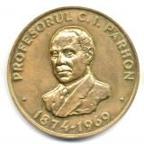 Medalii Romania - MEDALIE PROFESOR C I PARHON 1874-1969 FONDATORUL ENDOCRINOLOGIEI ROMANESTI CENTENAR 1874-1974 OMAGIUL ELEVILOR SI COLABORATORILOR MEDICINA INVATAMAN