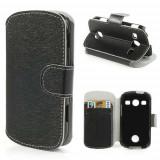 Husa Telefon - Husa Flip Stand Piele PU Samsung S7710 Galaxy Xcover 2 Neagra
