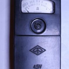 Aparat de masura de colectie vechi anii 60 ohmetru multimetru voltmetru - Multimetre