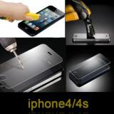 Folie de protectie, iPhone 4/4S, Anti zgariere - Folie protectie ecran Tempered Glass Iphone 4 4G + cablu date + expediere gratuita