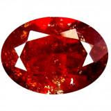 * Piatra naturala Granat Spessartin rosu - portocaliu - oval cut - 6.05 ct - certificat