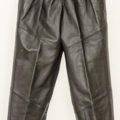 Pantaloni de dama - piele NATURALA - redus din 200 EUR - Nou - Pantaloni dama, Marime: M, Culoare: Negru