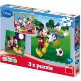 Puzzle 3 in 1 - Clubul lui Mickey Mouse - Peripetii de Vacanta