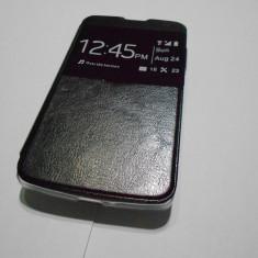 Husa LG Bello D331 D335 S-VIEW Black - Husa Telefon Aneon, Negru, Piele