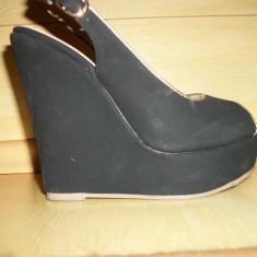 Platforme noi noute marimea 36 - Sandale dama, Culoare: Negru