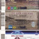 Lot 3 bilete meci fotbal CFR CLUJ-CHELSEA, FC BASEL, DINAMO MINSK - Bilet meci