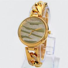 CEAS DAMA MICHAEL KORS SPARKING DIAMOND GOLD-SUPERB-COLECTIE 2016-REDUS-CRISTALE, Fashion, Quartz, Placat cu aur, Placat cu aur, Rezistent la apa