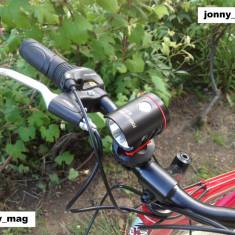Far Bicicleta Bailong MX-819 cu Led CREE T6 si Day Light cu Touch Buton NOU, Faruri si semnalizatoare