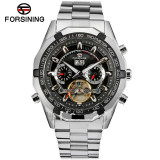 Ceas automatic Forsining Tourbillion Black 2015 - Ceas barbatesc