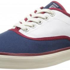 Adidasi originali GANT -din panza - tenisi barbati - in cutie- 41, 42, Culoare: Albastru, Textil