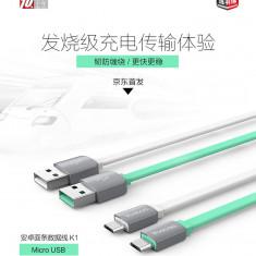 Cablu micro USB Samsung HTC Sony LG Allview Alcatel White by Yoobao 2.1A - Cablu de date Yoobao, Universala